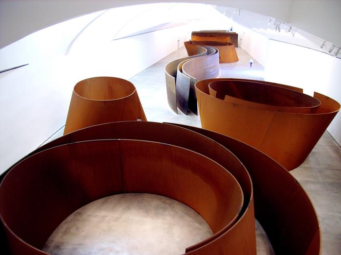 ÊRichard SerraÕs sculpture ÒThe Matter of Time, 2005,Ó as seen i